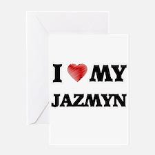 I love my Jazmyn Greeting Cards