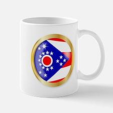 Ohio Flag Button Mugs