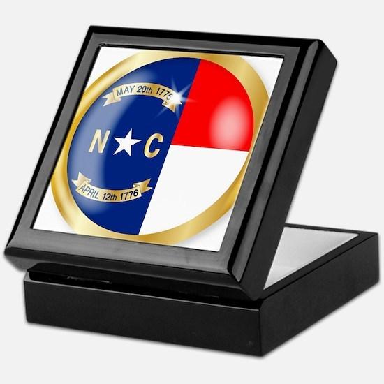 North Carolina Flag Button Keepsake Box