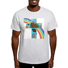 Blue Noah's Cross T-Shirt