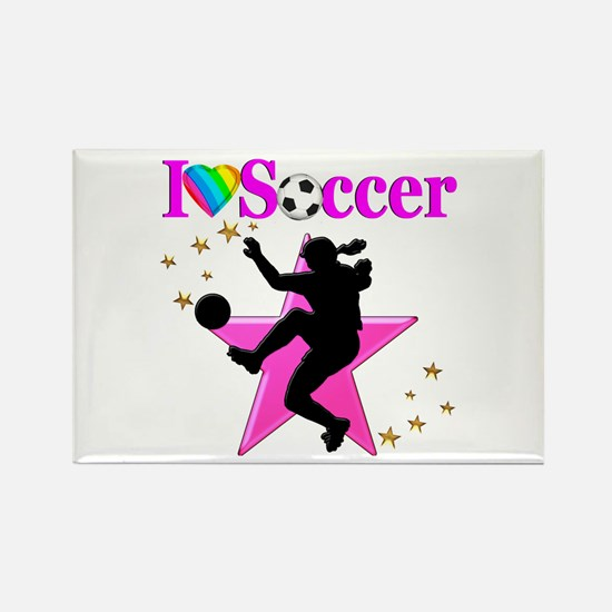 SOCCER PLAYER Rectangle Magnet (10 pack)