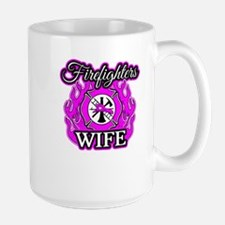 Firefighters Wife Large Mug