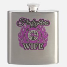 Firefighters Wife Flask
