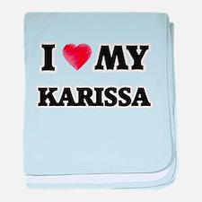 I love my Karissa baby blanket