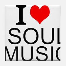 I Love Soul Music Tile Coaster