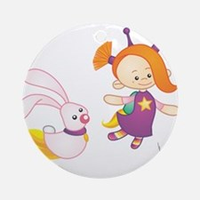 space girl Round Ornament