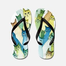 Cute Cute cat art Flip Flops