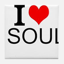 I Love Soul Tile Coaster