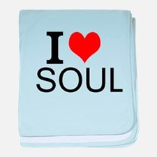 I Love Soul baby blanket