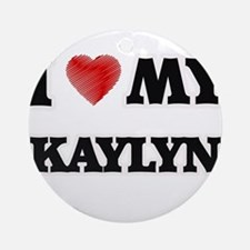 I love my Kaylyn Round Ornament