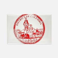 Washington DC Seal Rubber Stamp Magnets