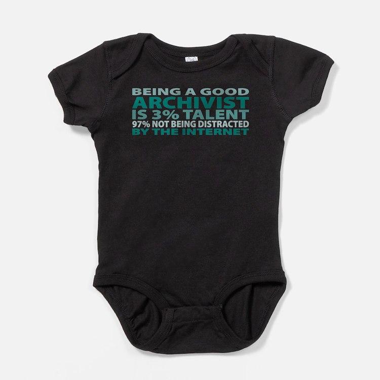 Cute Archivist Baby Bodysuit