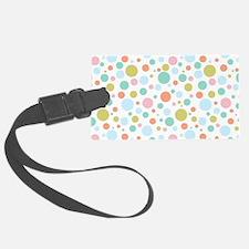 Vintage dots pattern Luggage Tag