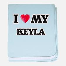 I love my Keyla baby blanket