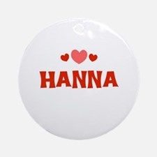 Hanna Ornament (Round)