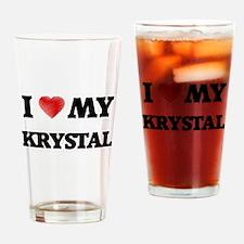 I love my Krystal Drinking Glass