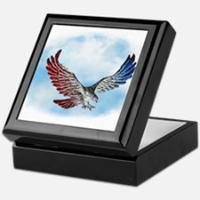 Red White and Blue Eagle 1 Keepsake Box
