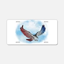 Red White and Blue Eagle 1 Aluminum License Plate