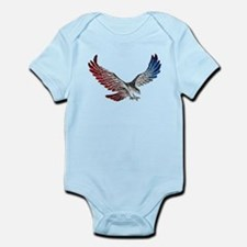 Red White and Blue Eagle 2 Body Suit