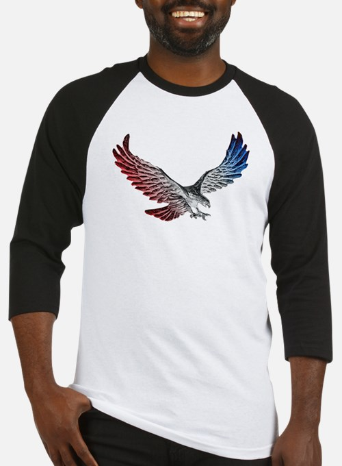 Red White and Blue Eagle 2 Baseball Jersey