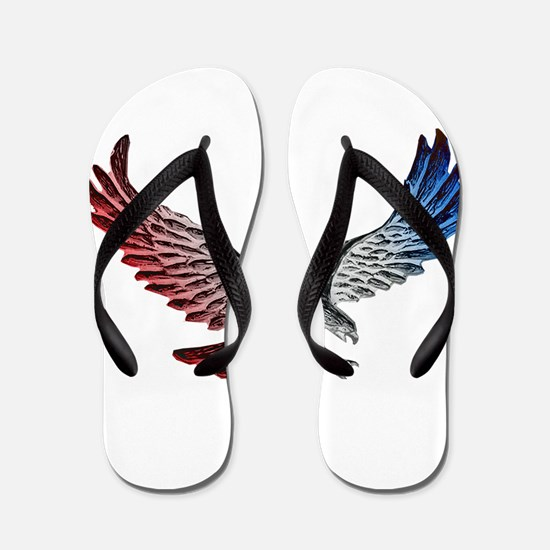 Red White and Blue Eagle 2 Flip Flops