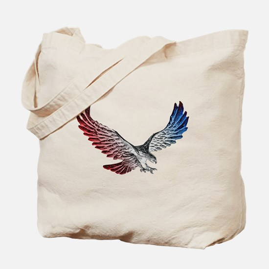 Red White and Blue Eagle 2 Tote Bag