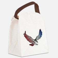 Red White and Blue Eagle 2 Canvas Lunch Bag