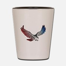 Red White and Blue Eagle 2 Shot Glass