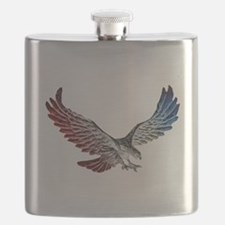 Red White and Blue Eagle 2 Flask
