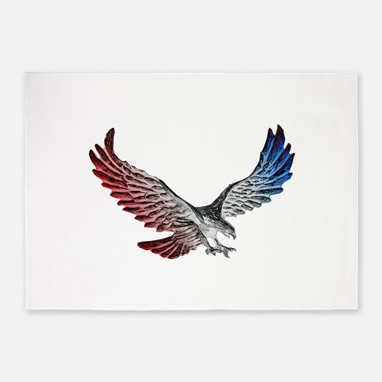 Red White and Blue Eagle 2 5'x7'Area Rug