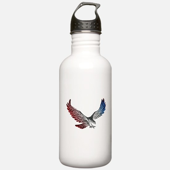 Red White and Blue Eag Sports Water Bottle