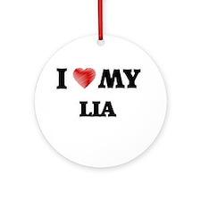 I love my Lia Round Ornament
