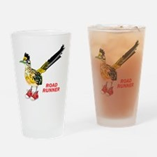 Road Runner in Sneakers Drinking Glass