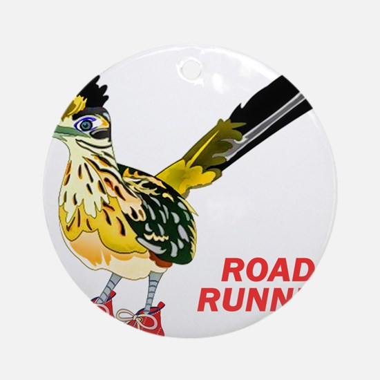 Road Runner in Sneakers Round Ornament