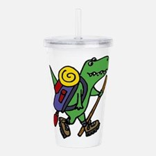T-Rex Dinosaur Hiking Acrylic Double-wall Tumbler
