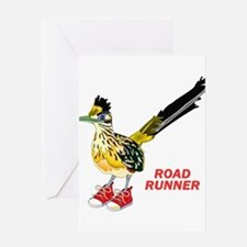 Road Runner in Sneakers Greeting Cards
