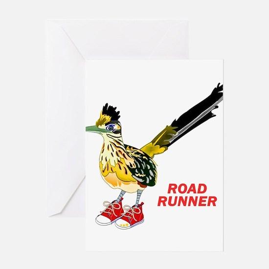 Road Runner in Sneakers Greeting Cards
