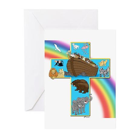 Blue Noah's Cross Cards (Pk of 10 w/God keeps)