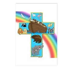 Blue Noah's Cross Postcards (Package of 8)