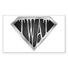SuperTwat(metal) Rectangle Decal