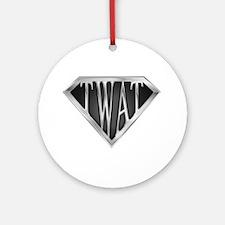 SuperTwat(metal) Ornament (Round)