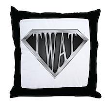 SuperTwat(metal) Throw Pillow