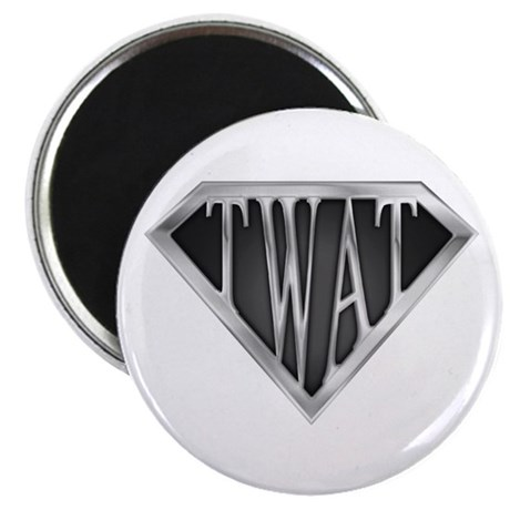 "SuperTwat(metal) 2.25"" Magnet (10 pack)"