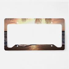 Tropical Beach License Plate Holder