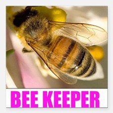 """Bee Keeper Square Car Magnet 3"""" x 3"""""""