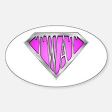 SuperTwat(Pink) Oval Decal
