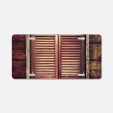 Saloon Doors Aluminum License Plate