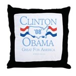 Clinton / Obama 2008: Great for America Throw Pill
