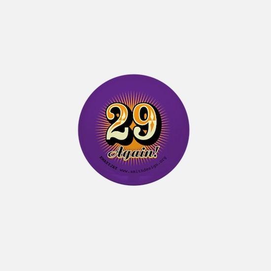 29 Again Mini Button (orange & Purple)