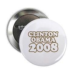 """Clinton / Obama 2008 2.25"""" Button"""